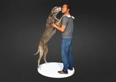 Michio and dog